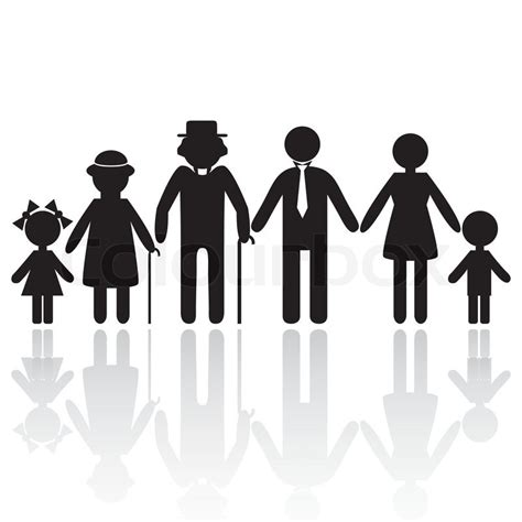 Home Design For Extended Family by People Silhouette Family Icon Person Vector Woman Old