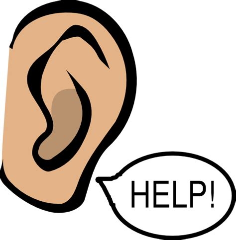 save the ear clip art at clker com vector clip art