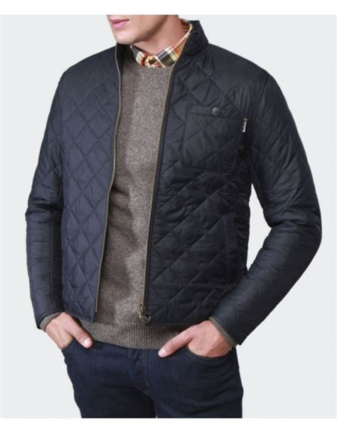 barbour axle quilted jacket in blue for lyst