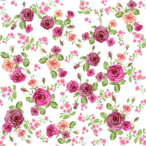 download pattern rose pink rose seamless pattern vector material 06 vector