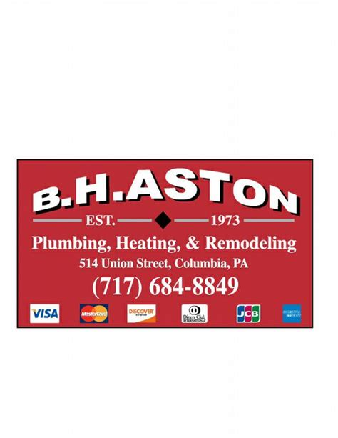 H And S Plumbing by Aston B H Plumbing Heating Contractors Columbia Pa