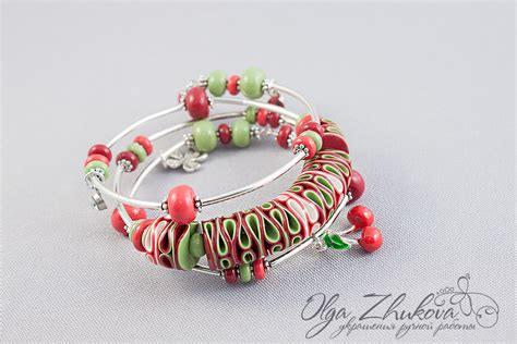 Bracelet made of polymer clay by polyflowers on DeviantArt