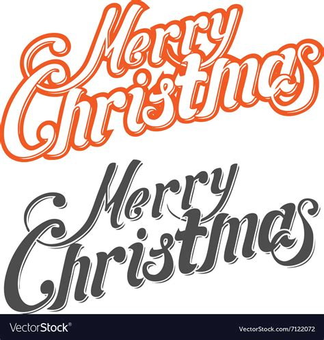 merry christmas letters royalty  vector image