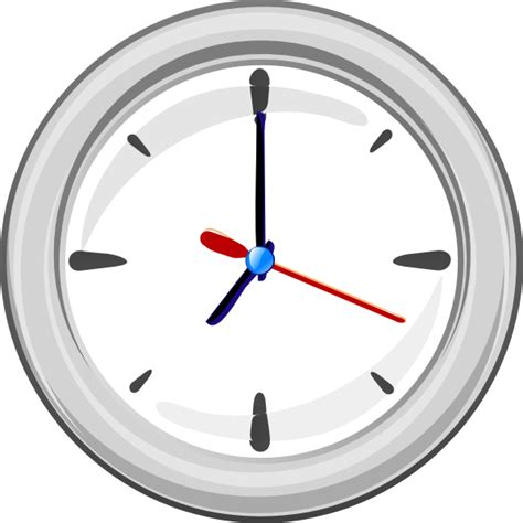 simple clock simple clock clip art at clker com vector clip art