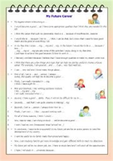 My Future Essay Writing by Worksheets My Future Career Writing Prompt