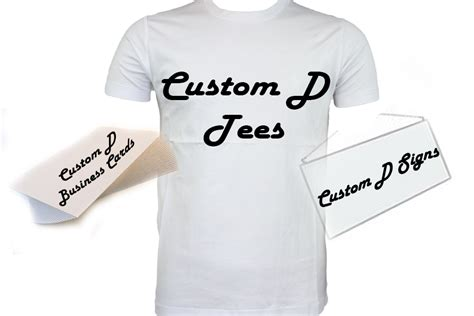 business cards and shirts custom d designing signs t shirts business cards