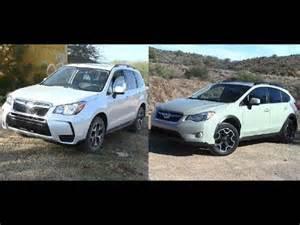 Subaru Forester Vs Subaru Crosstrek 2014 Subaru Forester Vs Subaru Xv Crosstrek