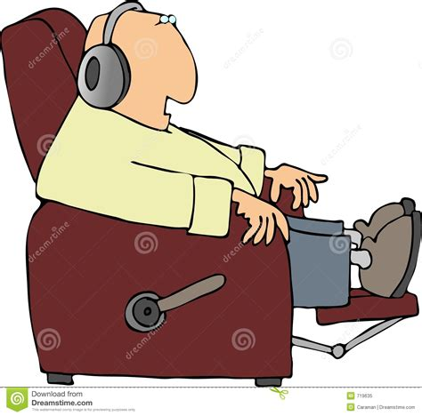 man in recliner man in a recliner royalty free stock photo image 719635