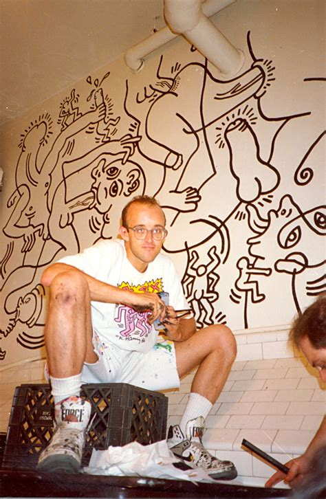 keith haring bathroom keith haring s most risqu 233 mural is hidden where you d
