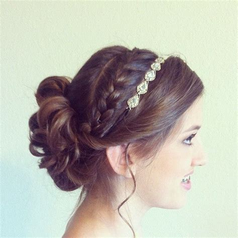 hairstyles with a headband for prom updo with braid and headband nina fitzgerald portfolio
