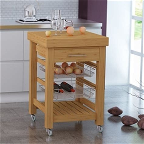 Kitchen Island Trolley Perth Wa Buy Bamboo Kitchen Trolley 60cm X 59 5cm X 89cm