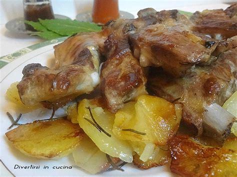 cucinare costolette di maiale costine di maiale al forno con patate divertirsi in cucina