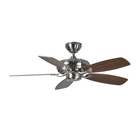 Silver Ceiling Fans by Monte Carlo Designer Max Ii 44 In Brushed Steel Silver