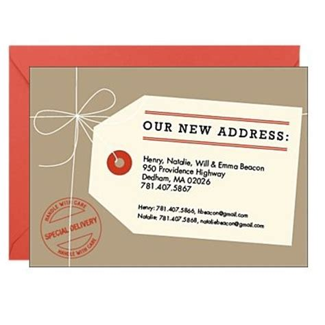 7 Best Change Of Address Cards Templates Images On Pinterest Card Templates Card Designs And New Address Template