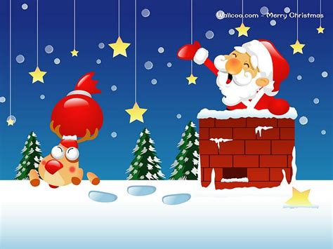 christmas wallpaper cartoons vector santa claus wallpaper 5 wallcoo net