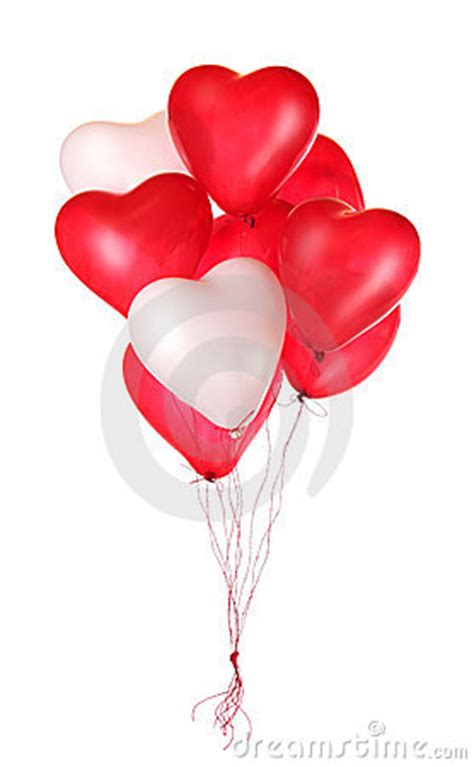 group  red heart balloons stock photo image
