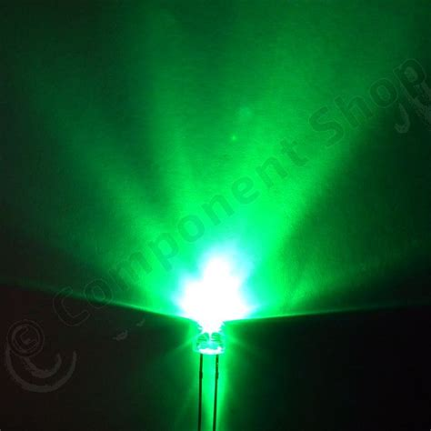 5mm ultra bright green led wide angle component shop