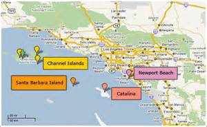 map of beaches in southern california california sailing charters adventure charters