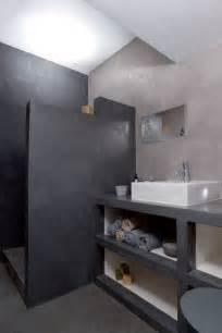 salle de bain italienne en b 233 ton cir 233 gris
