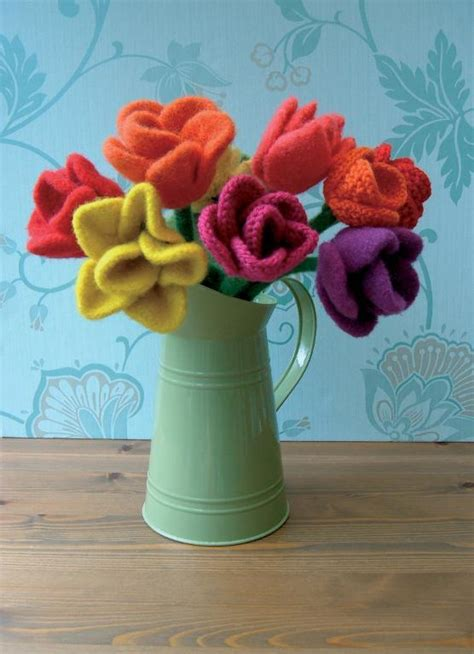 knitted flower bouquet knit gifts guaranteed to impress your hostess