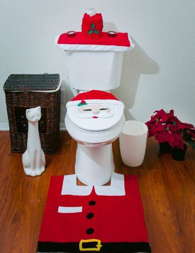 santa bathroom set christmas bathroom decor fun fashionable home