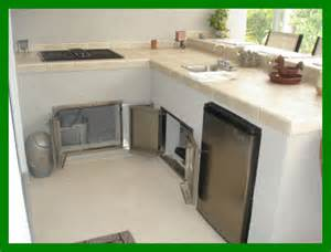 Concrete Kitchen Cabinets by Concrete Amp Stucco Outdoor Kitchen Cabinets
