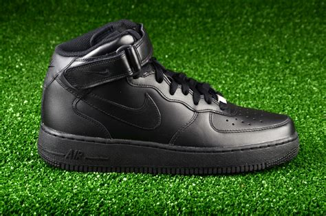 Nike Air 1 Mid All Black nike air 1 mid 07 all black shoes casual sporting goods sil lt
