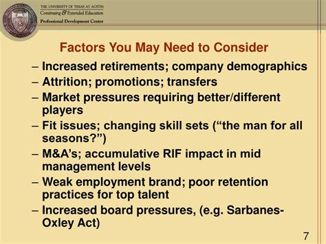 top factors to consider in planning your dream house ppt succession planning building your talent bench