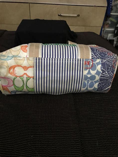 Coachs Colorful New Patchwork Satchel by Authentic Multi Color Htons Signature Patchwork Coach