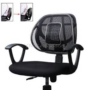 Office Chair Back Support New Black Mesh Lumbar Back Brace Support Office Home Car