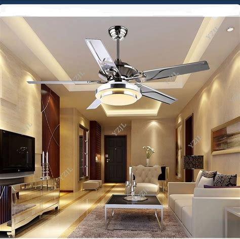 living room ceiling fans with lights aliexpress com buy stainless steel ceiling fan light