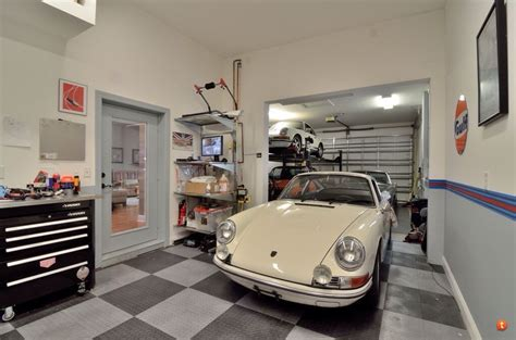 tandem garage three car tandem garage contemporary garages interior