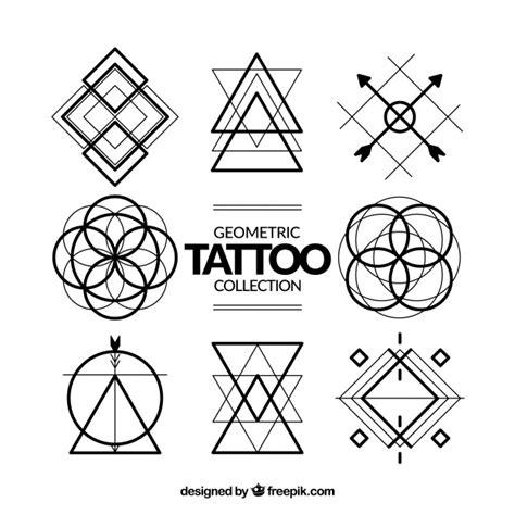 geometric tattoo vector geometric symbols tattoo collection vector free download