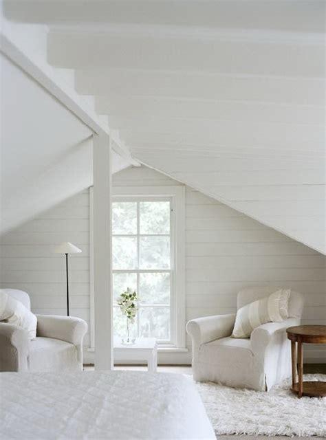 Attic Loft Bedroom by Total White Attic Bedroom Myhouseidea