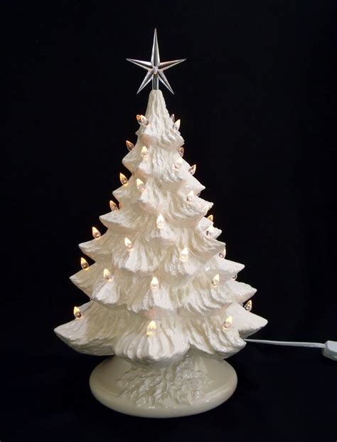 white christmas ceramic christmas tree with by darkhorsestore