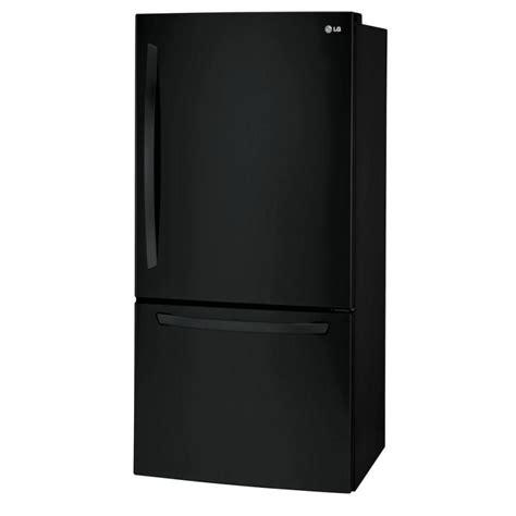 Freezer Lg 304 lg ldcs24223b 24 cu ft bottom freezer refrigerator in smooth black