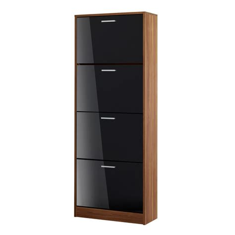Black Shoe Cabinet With Doors Bonsoni Strand 4door Shoe Cabinet In Black By Lloyd Phillip Delric
