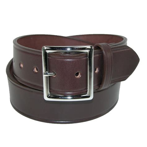 mens leather 1 3 4 inch garrison belt by boston leather