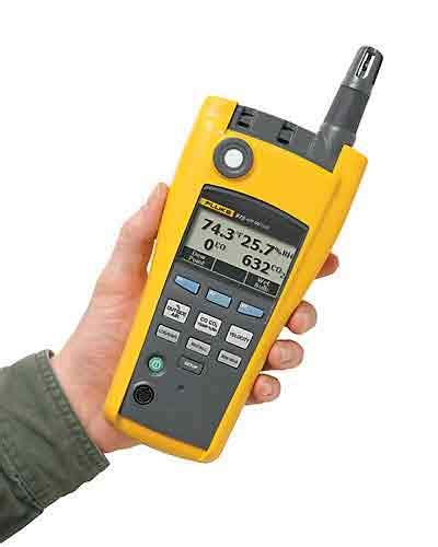 test capacitor with fluke meter fluke 975 airmeter indoor air quality meter with air velocity from davis instruments