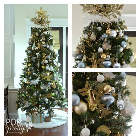 holiday house tour a gold and white christmas a pop