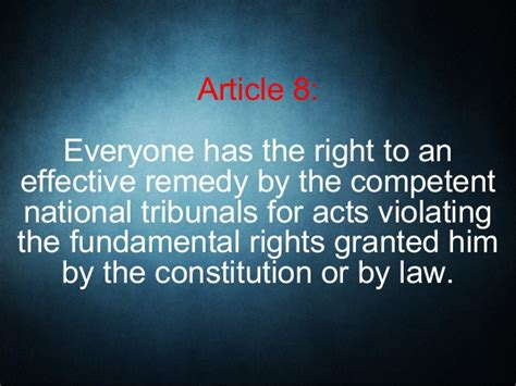 Presumed Meaning by Article 8 Of The Universal Declaration Of Human Rights