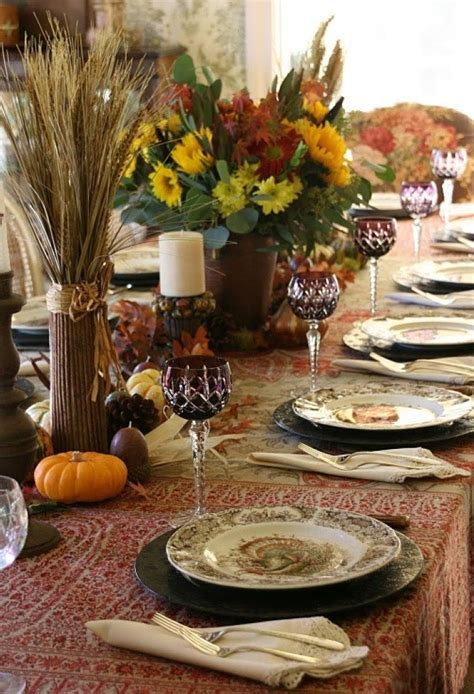 country style table settings thankskiving table setting ideas