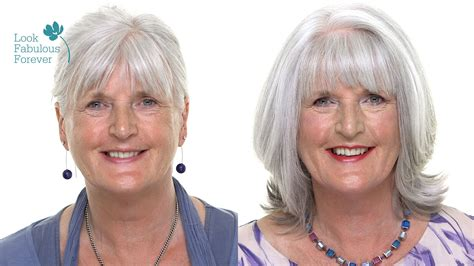 makeup for older women perfect makeup with grey or white