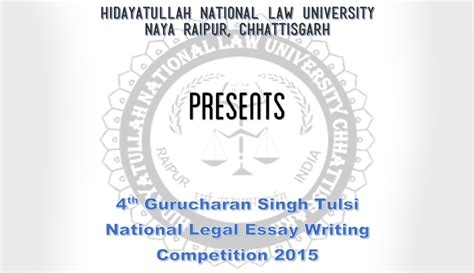 Essay Writing Competition 2015 by 4th Hnlu Gurcharan Singh Tulsi Essay Competition 2015 Results Live