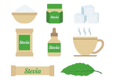 Stevia Set set stevia sugar vectors gratis vectorkunst