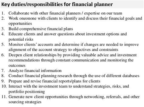 Investment Advisor Description by Financial Planner Description