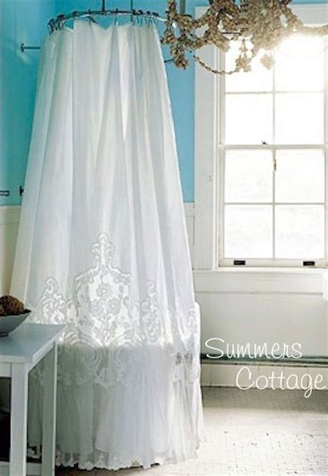 anthropologie ruffle shower curtain anthropologie white french lace netting ruffle shower