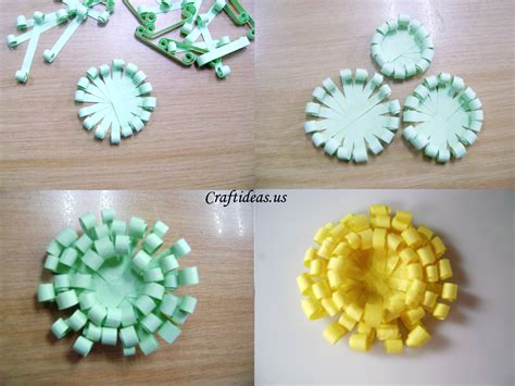 How To Make A Flower Out Of Paper Easy - paper crafts paper chrysanthemums craft ideas
