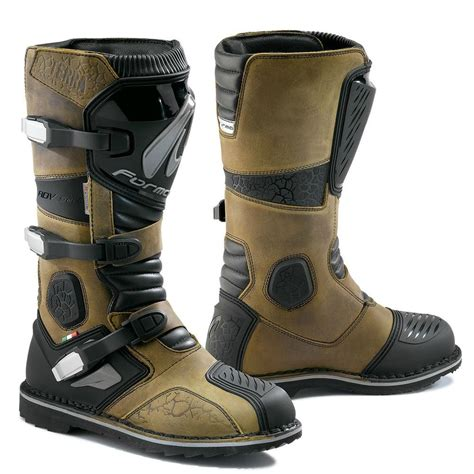 adventure motorcycle boots forma terra mens adventure motorcycle boots brown or black