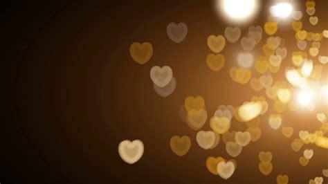 Golden Hearts Bokeh Lights Overlay Motion Background Light Bokeh Overlay